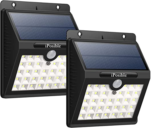 iPosible Luz Solar Jardín, 【3 Modos-2 Piezas】 33 LED Luces Solares con Sensor de Movimiento Focos Led Solars Exterior Impermeable Lampara Solar Pared para Jardín,Patio: Amazon.es: Hogar