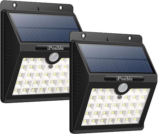 iPosible Luz Solar Jardín, 【3 Modos-2 Piezas】 33 LED Luces ...