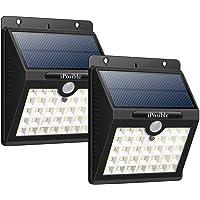 iPosible Luz Solar Jardín, 【3 Modos-2 Piezas】 33 LED Luces Solares