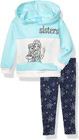 Disney Frozen 2 Toddler Girls Fleece Ruffle Hoodie /& Leggings Set