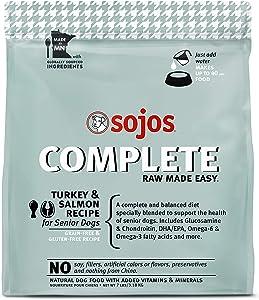 Sojos Complete Turkey & Salmon Recipe Senior Grain-Free Freeze-Dried Raw Dog Food, 7 Pound Bag