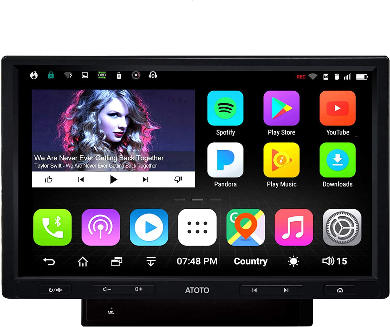 WiFi//BT Tethering Internet Unterst/ützung 256G SD /&mehr 2 x Bluetooth /& Schnellladung ATOTO A6 Android Auto Navigation Stereo Premium A6Y2721PB 2G//32G Auto Unterhaltung Multimedia Radio