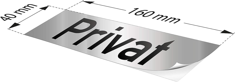 Kinekt3d Leitsysteme Folienschild T/ürschild /• Ausgang Links /• PVC Hinweisschild /• 160 x 40 mm Silber /• selbstklebend /• Kratzfester Druck /• UV Best/ändig