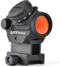 AT3 Tactical RD-50 Red Dot Sight - Optional Picatinny Riser Mount for Cowitness with Iron Sights - 2 MOA Compact Red Dot Scope