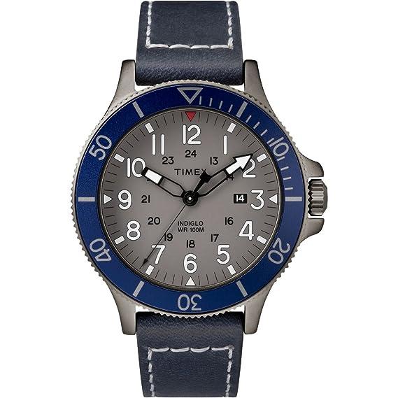 4c5b2460b17a Timex Indiglo Allied Piel tw2r45900  Amazon.es  Relojes