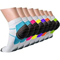 3/5/8 Pairs Copper Compression Ankle Socks Women & Men Sport Plantar Fasciitis Arch Support - Best For Athletic &Travel