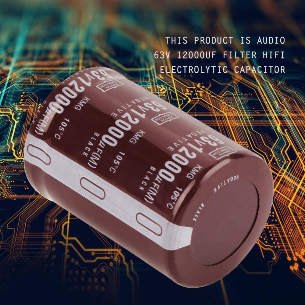 12000uf Filter Capacitor 50mm for Circuit Control electronic component assorted kit Filter Capacitor 2pcs Audio 63V 12000uf Filter HIFI Electrolytic Capacitor 35