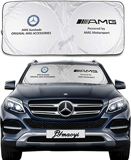 For Benz Sunshade Windshield Cover Car Snow Cover Benz Windshield Visor Cover Front Window Protector Ice Frost Defense Snow Reflector for AMG A B C E G CLA CLK CLS CL GLA GLC GLE GLS Class Series