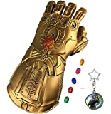 haho Thanos Glove Infinity Gauntlet PVC Gloves Cosplay Props Thanos Gauntlet Glove with 6 LED Magnetic Infinity Stones