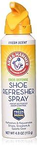 Arm & Hammer Odor Defense Shoe Refresher Spray, Fresh Scent, 4 oz (Pack of 2)