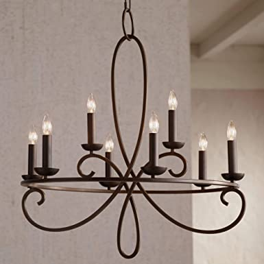Foxvale 26 1 2 Wide Dark Bronze Steel Chandelier