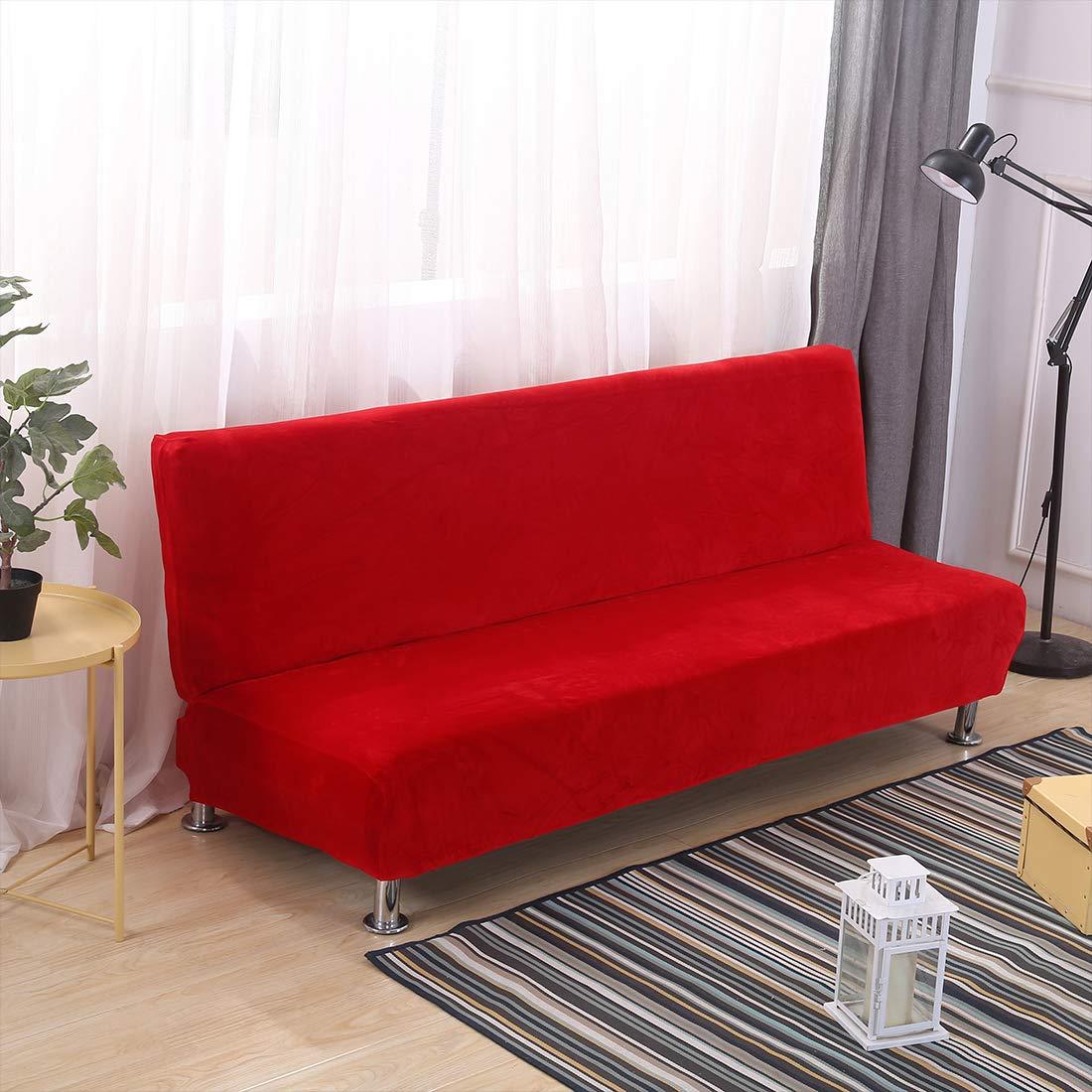 Funda de sofá clic-clac terciopelo epaisse extensible extraíble sin reposabrazos 180 – 210 cm – Funda universal para sofá-cama Stretch para casa ...