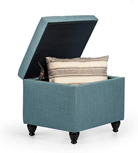Joveco Storage Ottoman Fabric Rectangular Bench