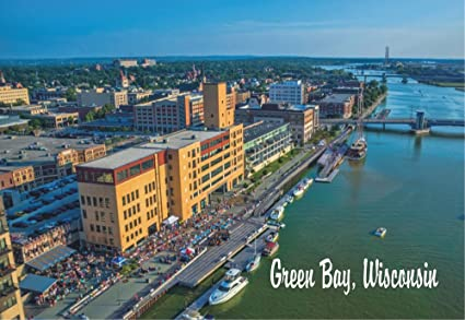 amazon com green bay wisconsin downtown city skyline fox river