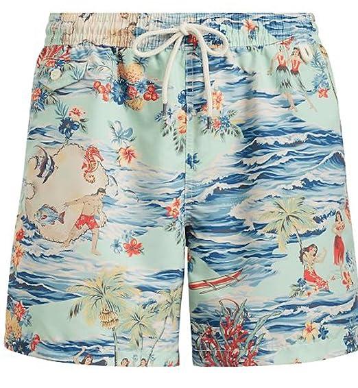 88255efd63845 Ralph Lauren Polo Mens Pony Logo Traveler Swim Trunk: Amazon.co.uk: Clothing