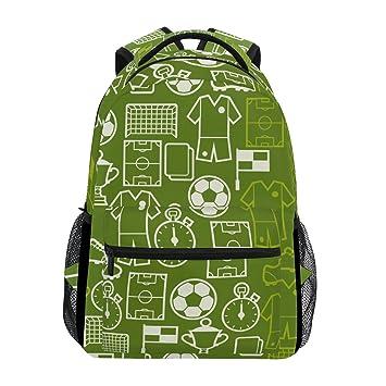TIZORAX - Mochila de Viaje, diseño de símbolos de fútbol: Amazon.es: Deportes y aire libre