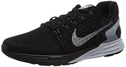 best sneakers 9700d 57eb9 Nike Lunarglide 7 Flash Mens Running Shoes Black New In Box Black Pure  Platinum
