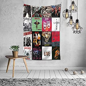"""Motley Crue Tapestry Wall Hanging Bedding Tapestry 3D Printed Art Tapestry Home Decor 60""""x40"""""""