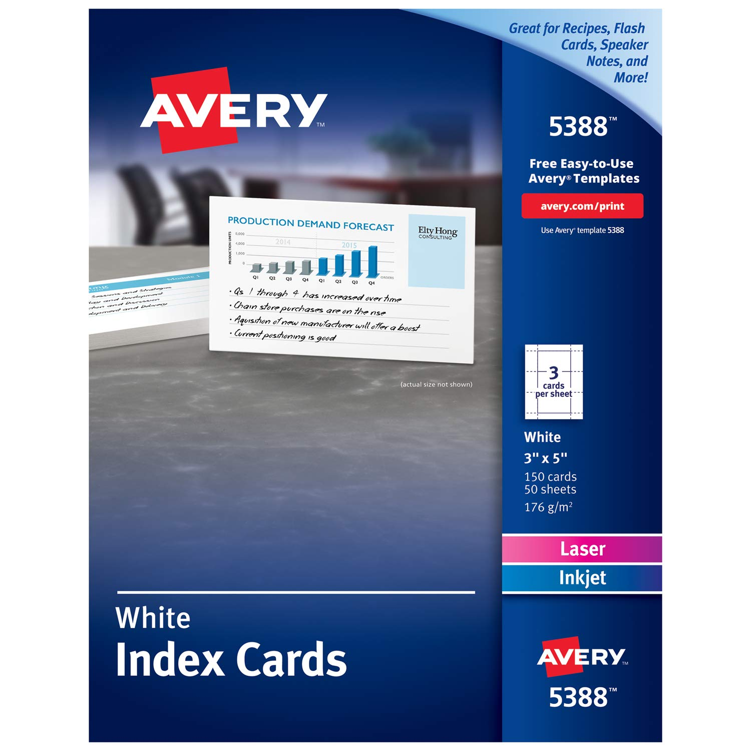 Amazon Avery Printable Cards Laser Inkjet Printers 150