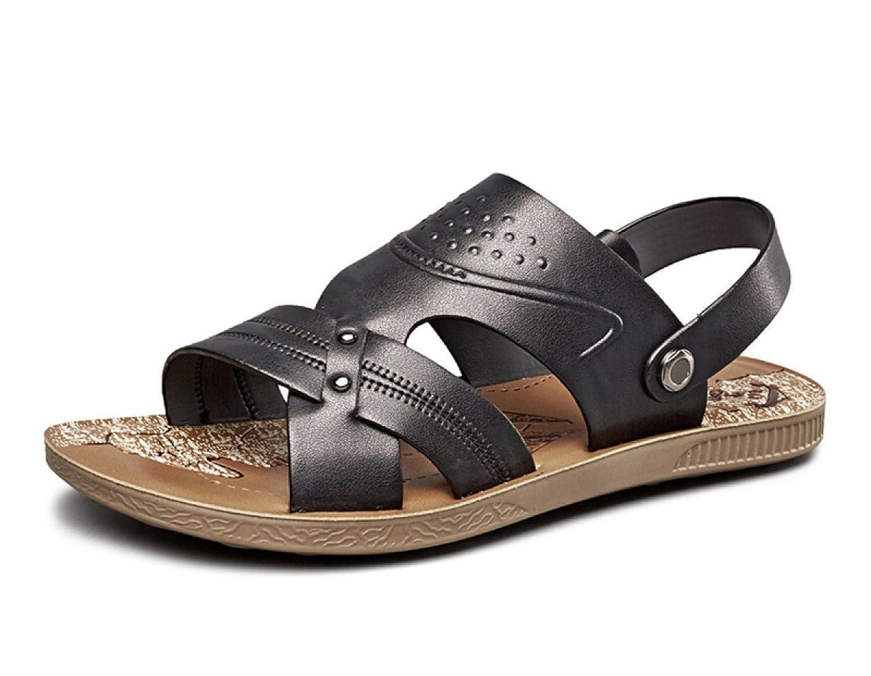 MUYII Herren Strandschuhe Freizeit Ziehen Auf Sandalen Pantoffel Im Freien Wasser Zehenkappe Schuhe Black
