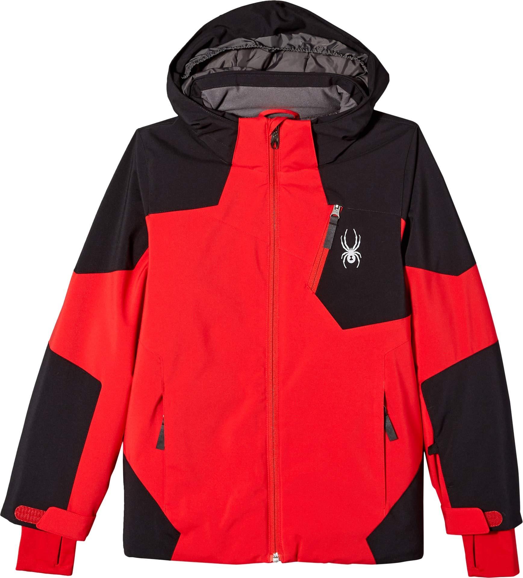 Spyder Boys' Chambers Ski Jacket, Red/Black/Red, Size 8