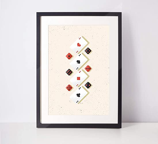 Amazon Com Black Jack Poster Poker Room Decor Roommate Gift