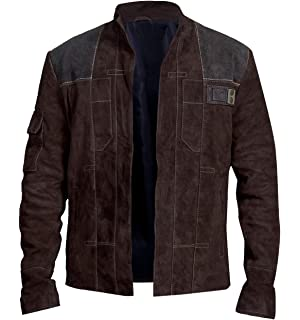 Amazon.com: Star Space Warrior Han Leather Solo Wars Cosplay ...