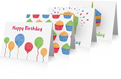 Birthday Cards Variety Pack 24 And Blank Envelopes Greeting
