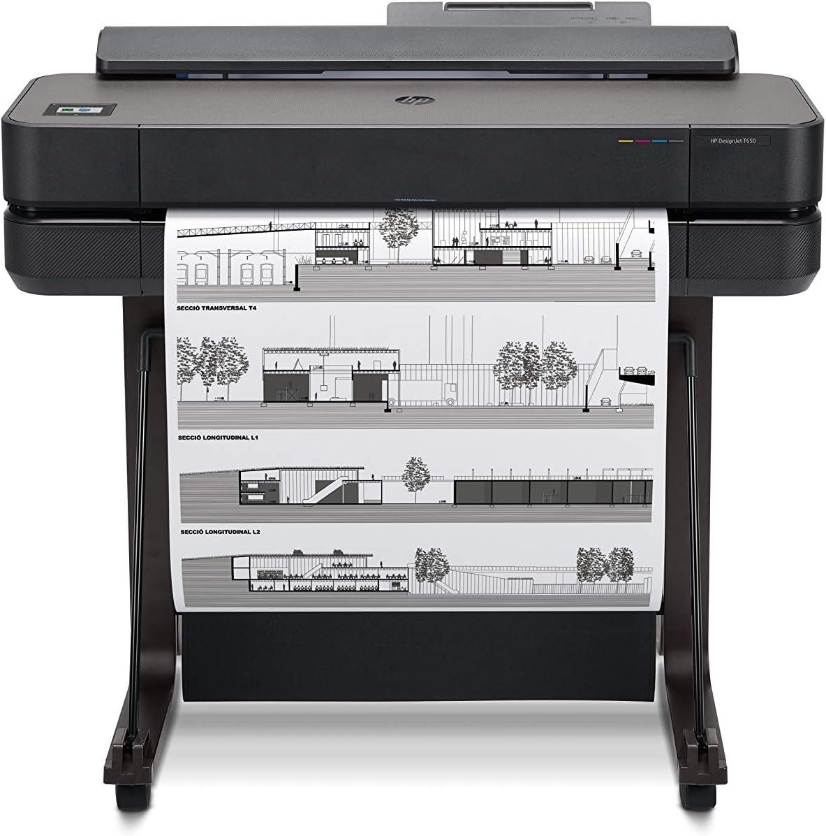 HP DesignJet T650 Large Format Wireless Plotter Printer - 24