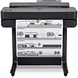 """HP DesignJet T650 Large Format Wireless Plotter Printer - 24"""", with Roll Cover, Auto Sheet Feeder, Media Bin & Stand (5HB08A)"""