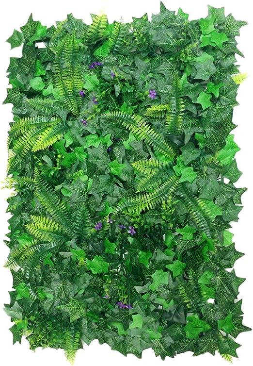 40 * 60cm Césped de Plantas Flor Hierba Hoja Enredaderas Artificiales Pared Decoración: Amazon.es: Jardín