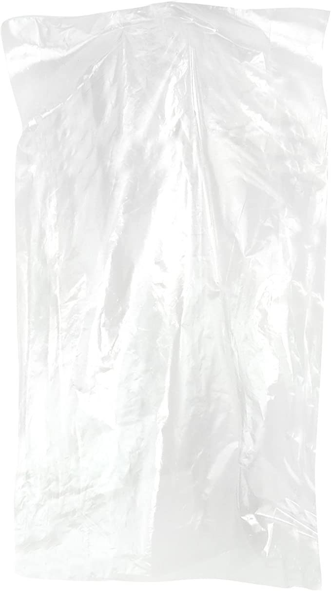 """100 Clear Plastic Garment Covers Clothes Bags Size 24x40/"""" Dry Cleaning FREE P+P"""