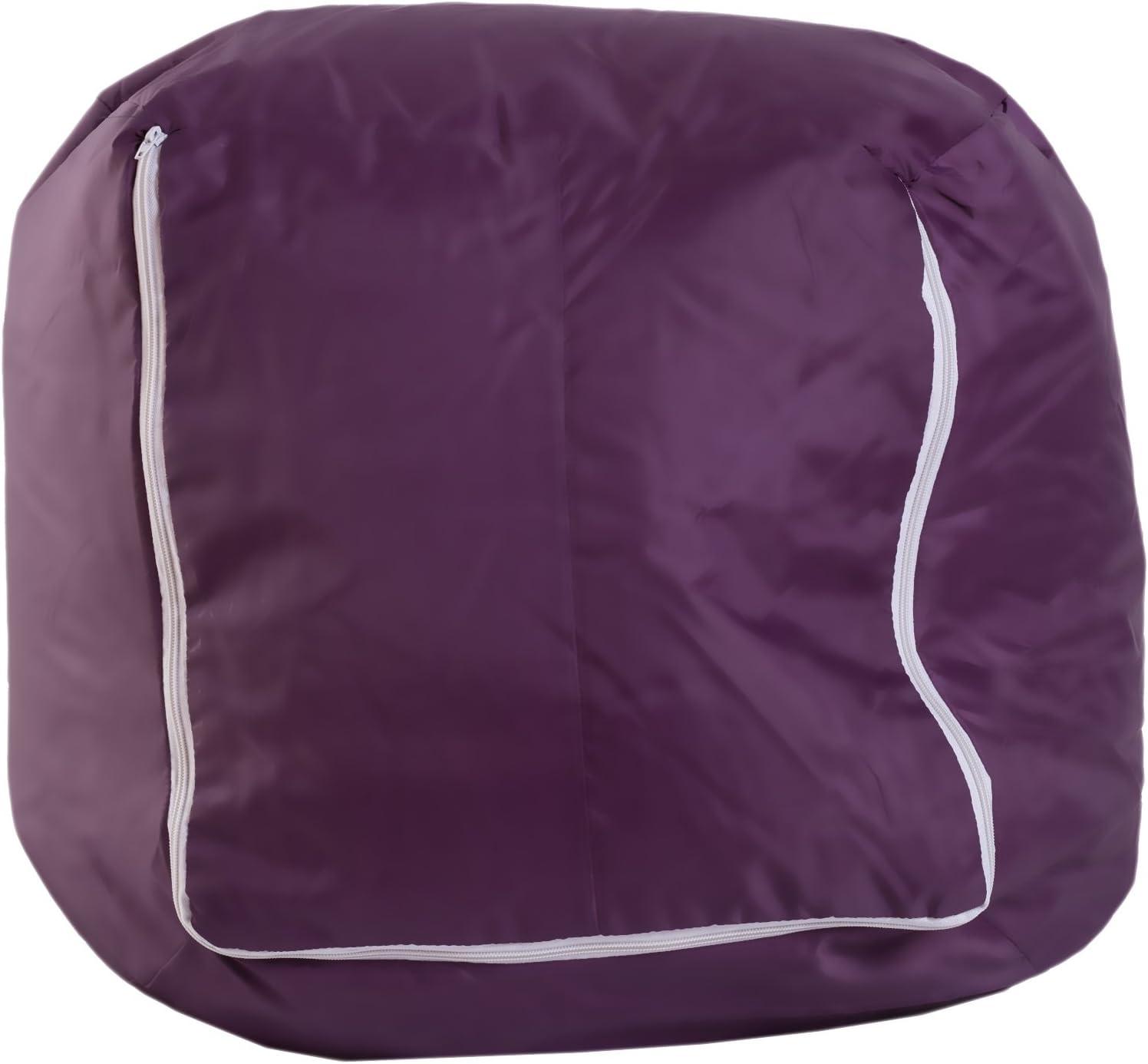 Mobili Rebecca® Puff de Pera Sillon Grande Silla Asiento Violeta ...