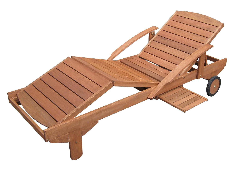 Hecht Sonnenliege - ERA -, Gartenliege, Holzliege, Liege aus Meranti Holz