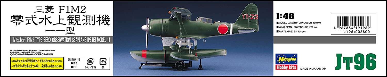 Hasegawa Mitsubishi F1M2 Typ Zero Beobachtung Wasserflugzeug Modell 11 1//48