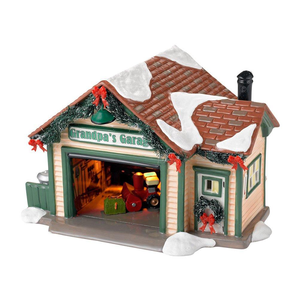 Department 56 Snow Village Grandpa's Garage Lit House, 4.92 inch