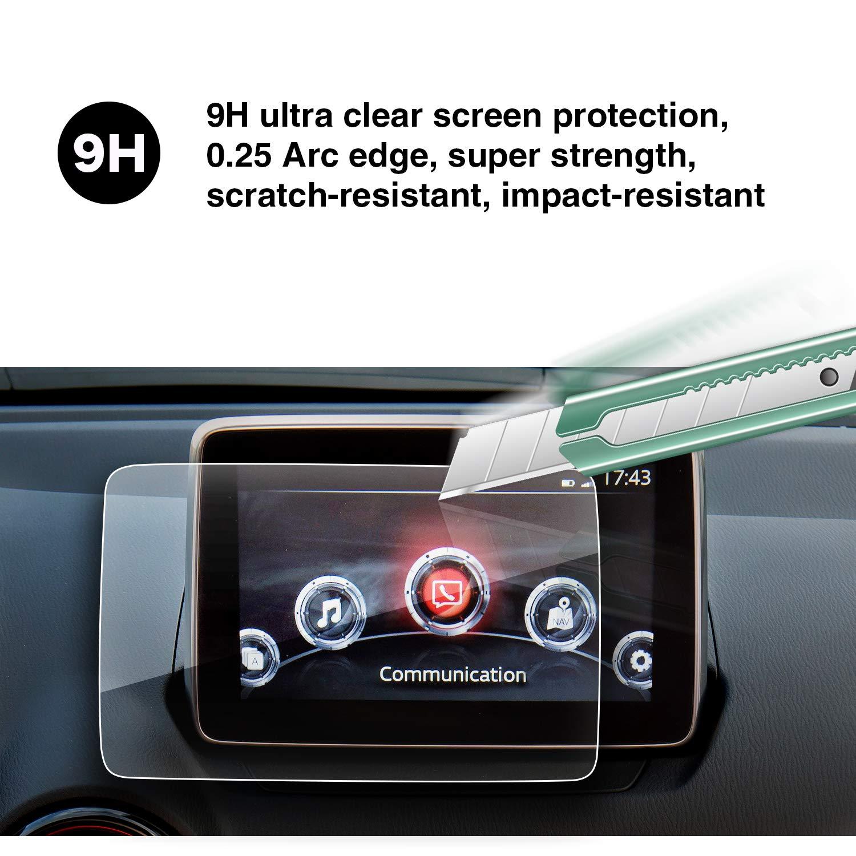 YEEPIN Mazda MZD Connect CX-3 CX-4 MX-5 pel/ícula de la pantalla de navegaci/ón de 7 pulgadas 9H dureza anti-fouling anti-huella digital pantalla de protecci/ón integral