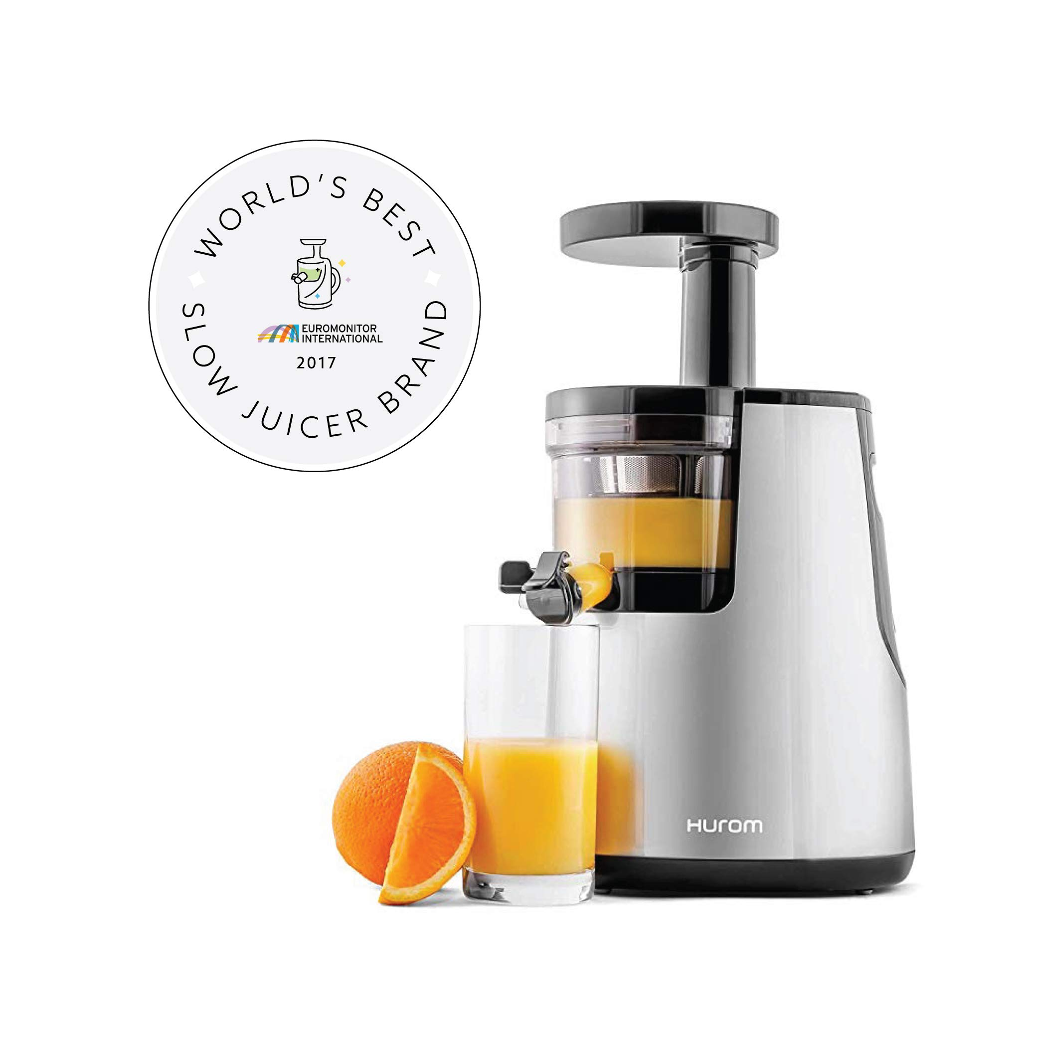 Hurom Elite Slow Juicer Model HH-SBB11 Noble Silver with Cookbook by Hurom