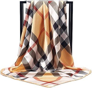 "Free orange gold link BRAND NEW Corciova 35/"" Womens Silk Elegant Square Scarf"