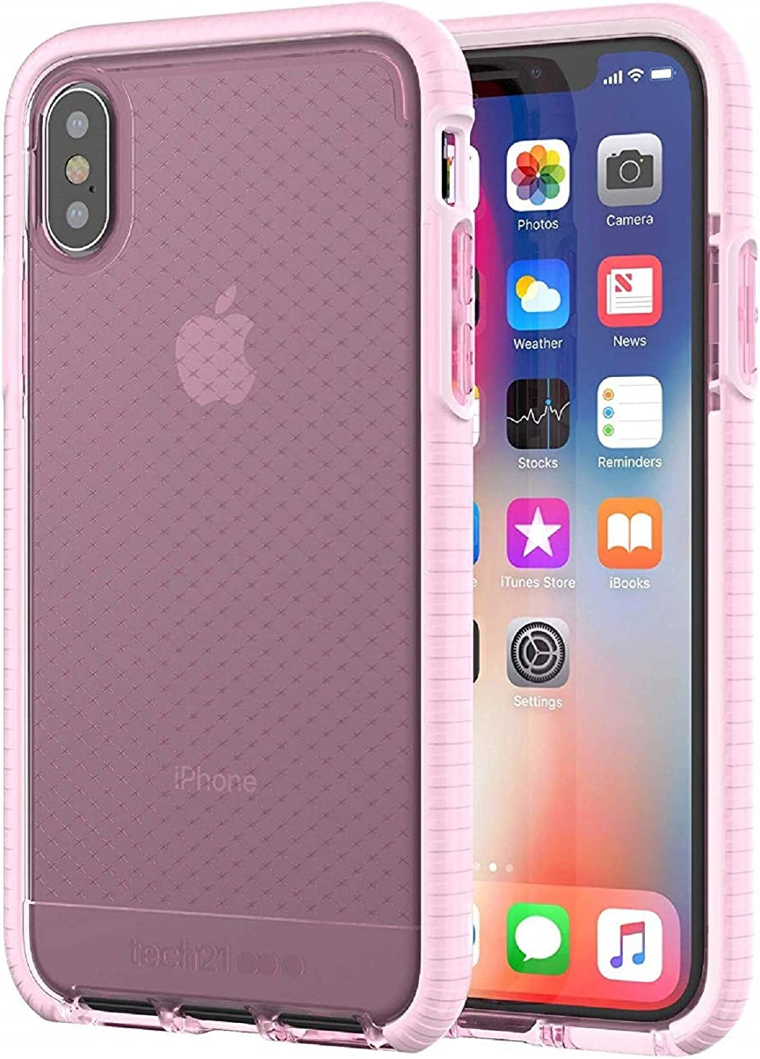tech21 - Evo Check Case for Apple iPhone X (Rose Tint/White)