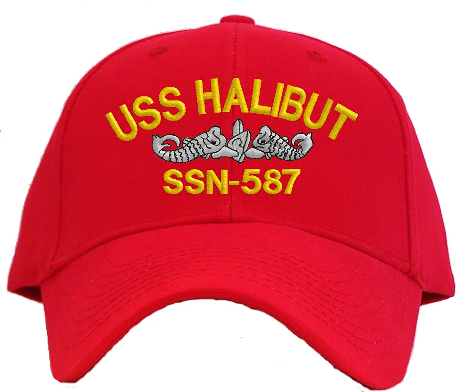 Spiffy Custom Gifts USS Halibut SSN-587 Embroidered Pro Sport Baseball Cap