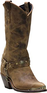 product image for Abilene Women's Distressed Harness Cowgirl Boot Pointed Toe