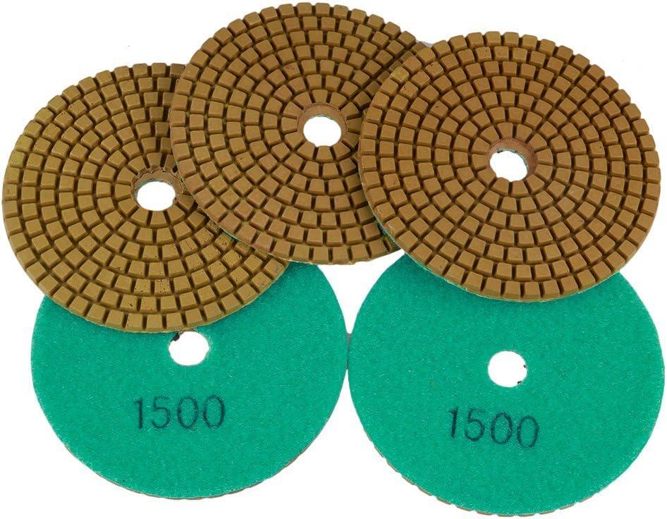 5/1500/# Grain Diamant Polissage Pad 10,2/cm Wet 5/mm pour b/éton granit marbre