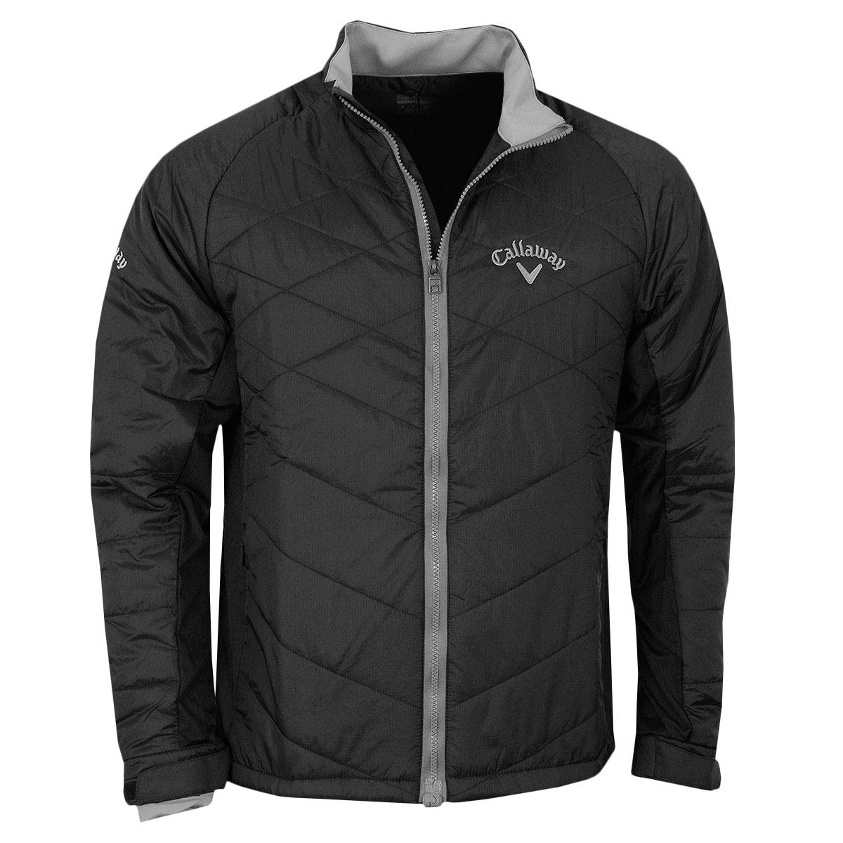 Callaway Golf 2018 Mens Full Zip Chev Thermal Puffer Jacket Caviar Large by Callaway