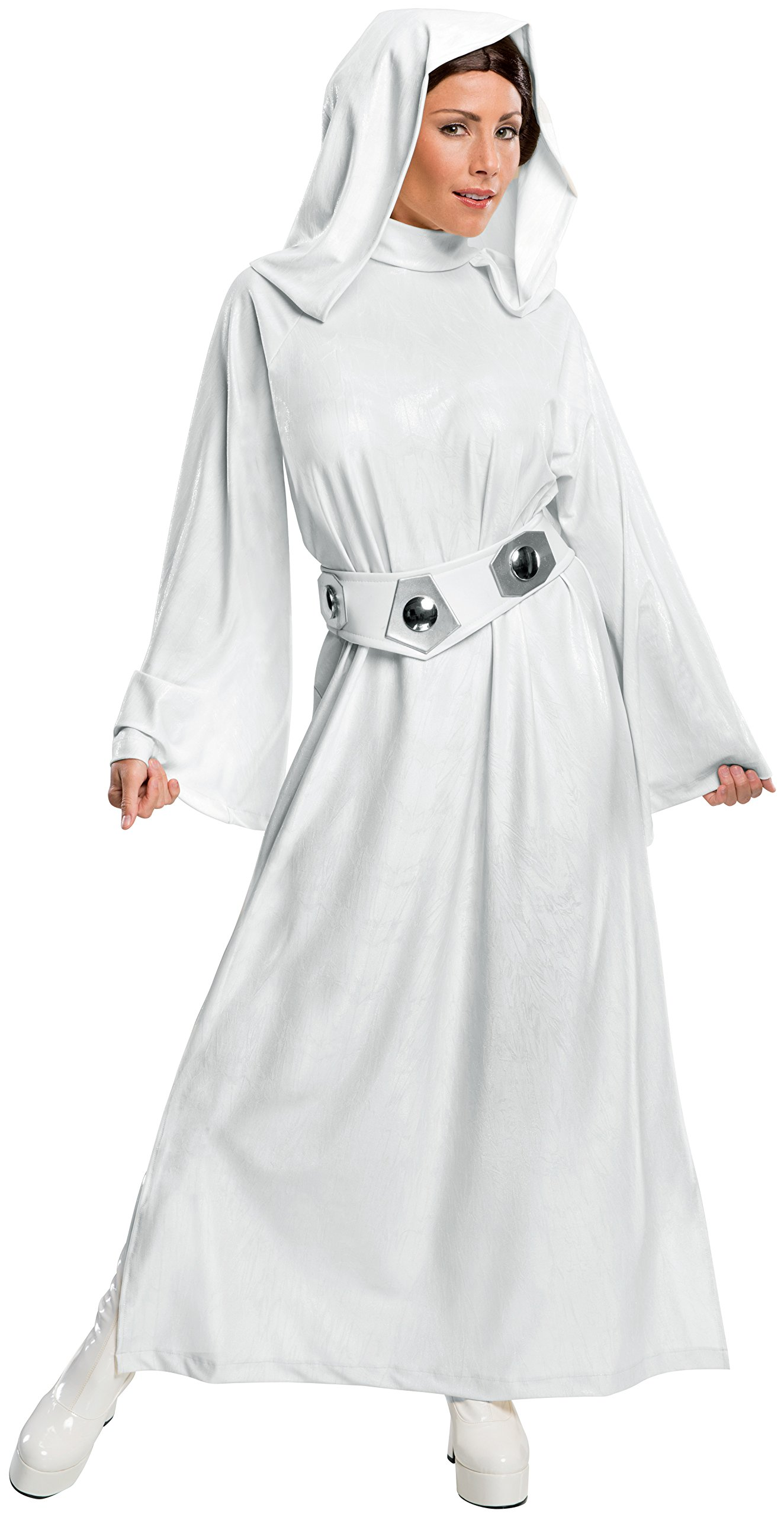 Rubie's Women's Star Wars Classic Deluxe Princess Leia Costume,White,Large by Rubie's