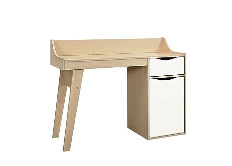 Scrivania In Legno Bianco : Birlea kingston studio scrivania legno faggio e bianco