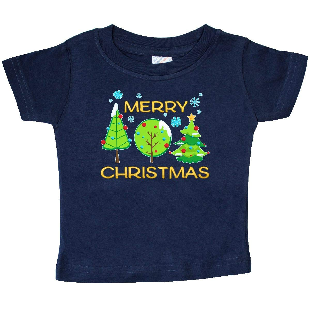 Trees in The Snow Baby T-Shirt inktastic Merry Christmas