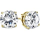 883a59c5d Sllaiss Set with Swarovski Zirconia Stud Earrings for Women Made of Sterling  Silver Round-Cut