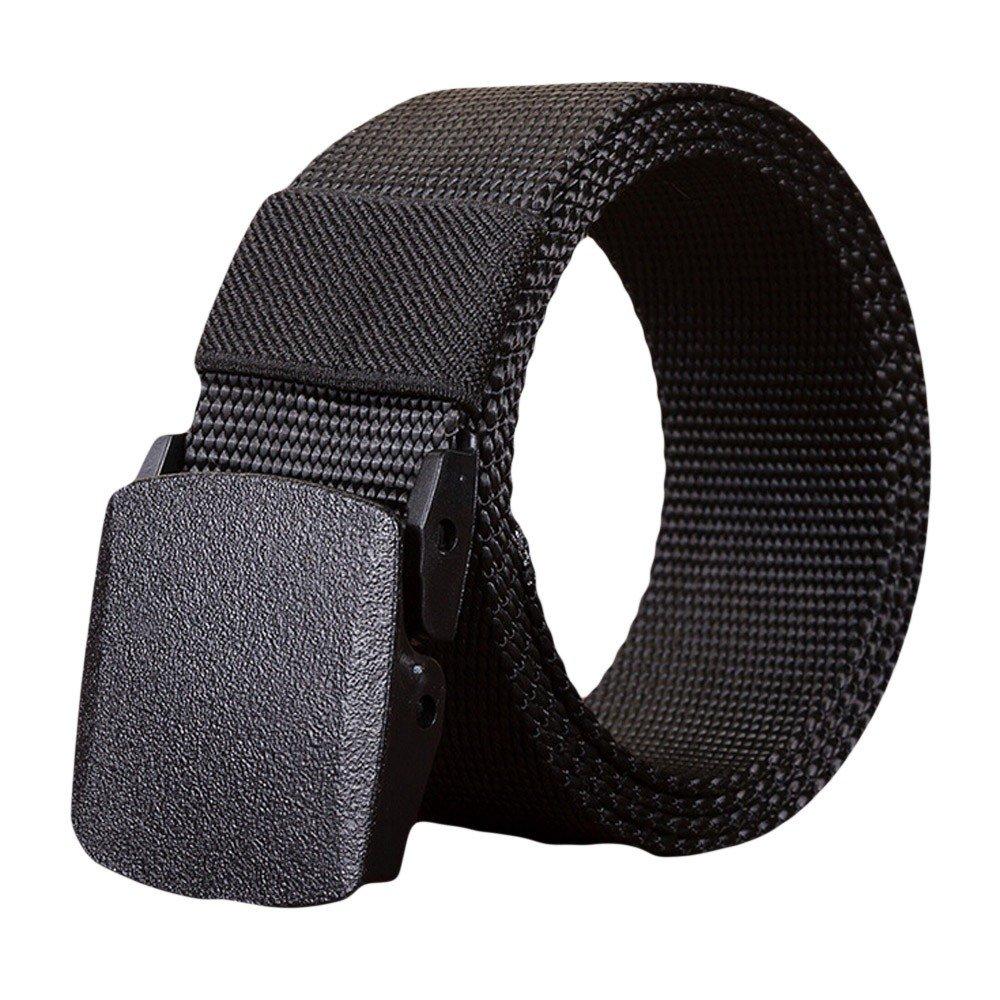 QIGUANDZ Unisex Nylon Canvas Belt Plastic Buckle Belt Hiking Belt Military Tactical Waist Belt