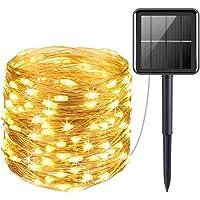 Açık havada güneş enerjili ışık zinciri, 200 LED, 20 m, güneş enerjisiyle çalışan ışık zinciri, su geçirmez bahçe…